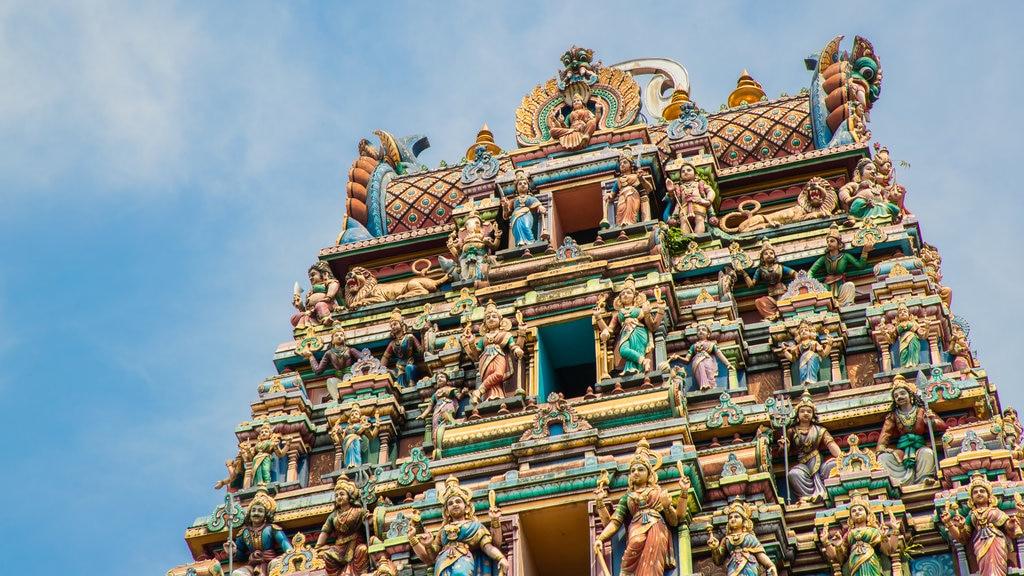 Sri Maha Mariamman Temple which includes heritage architecture