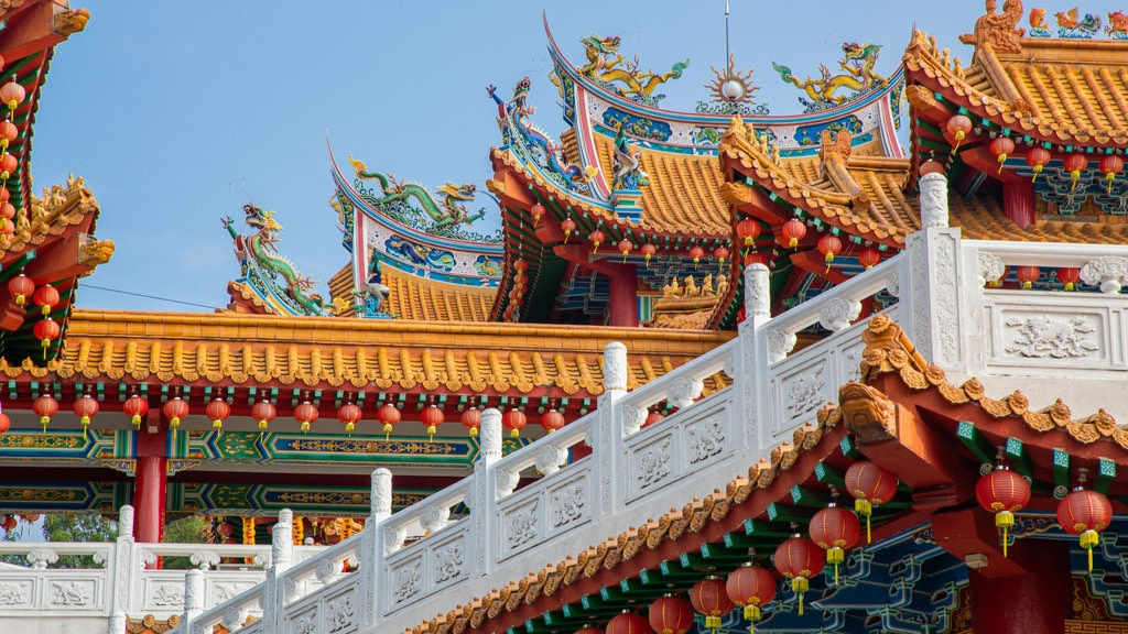 Thean Hou Temple featuring heritage elements