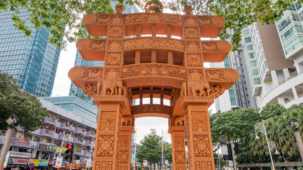 Brickfields featuring a city and heritage elements