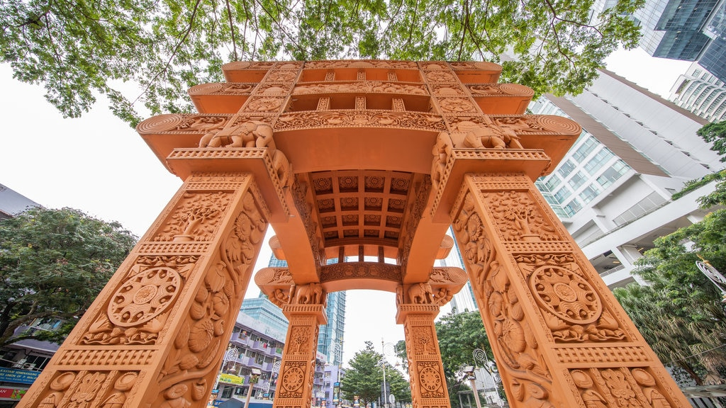 Brickfields which includes heritage elements and a city