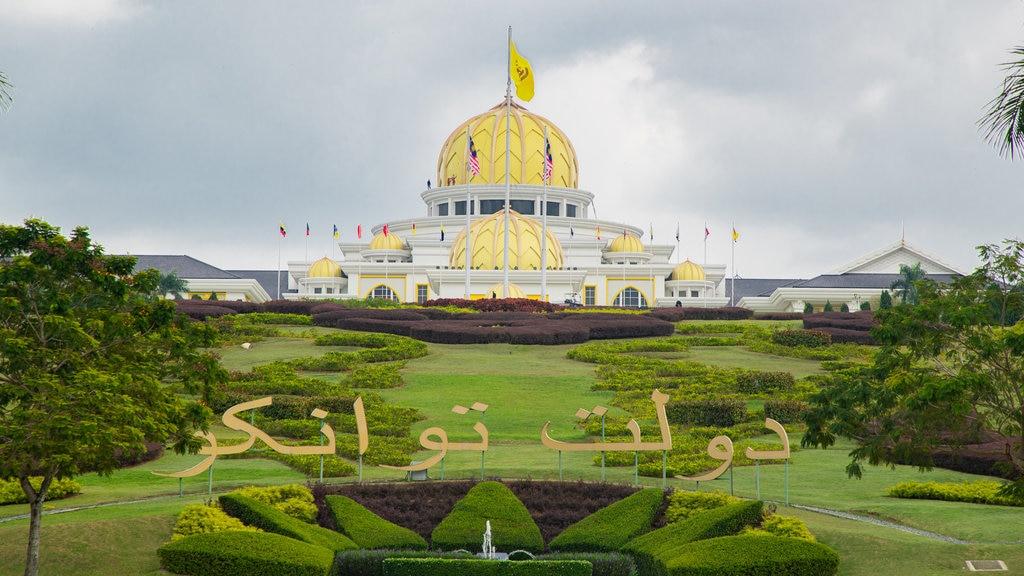 Palacio National que incluye un parque, patrimonio de arquitectura y señalización