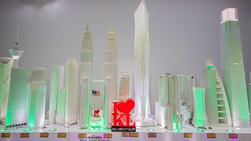 Kuala Lumpur City Gallery showing interior views