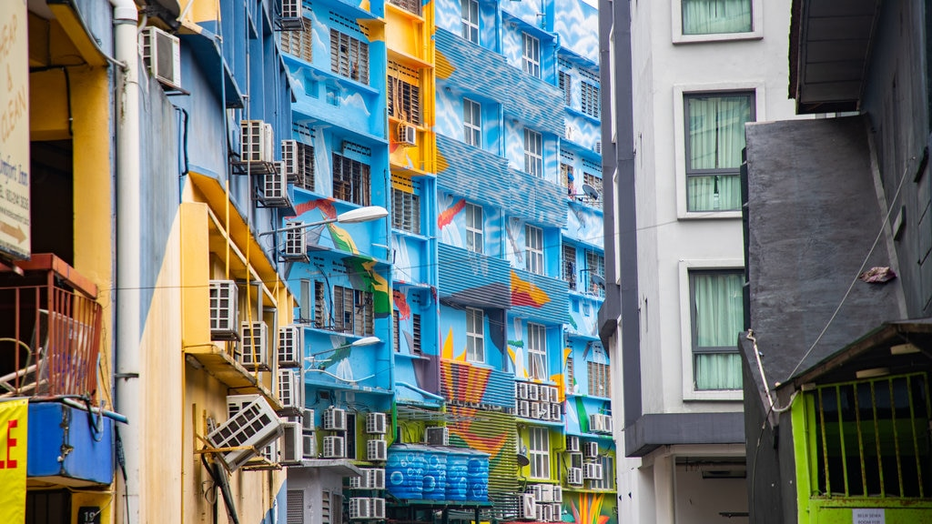 Kuala Lumpur featuring outdoor art and a city