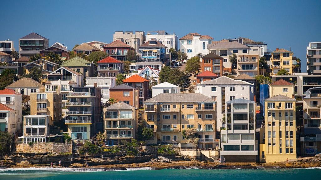 Bondi Beach featuring a coastal town and general coastal views