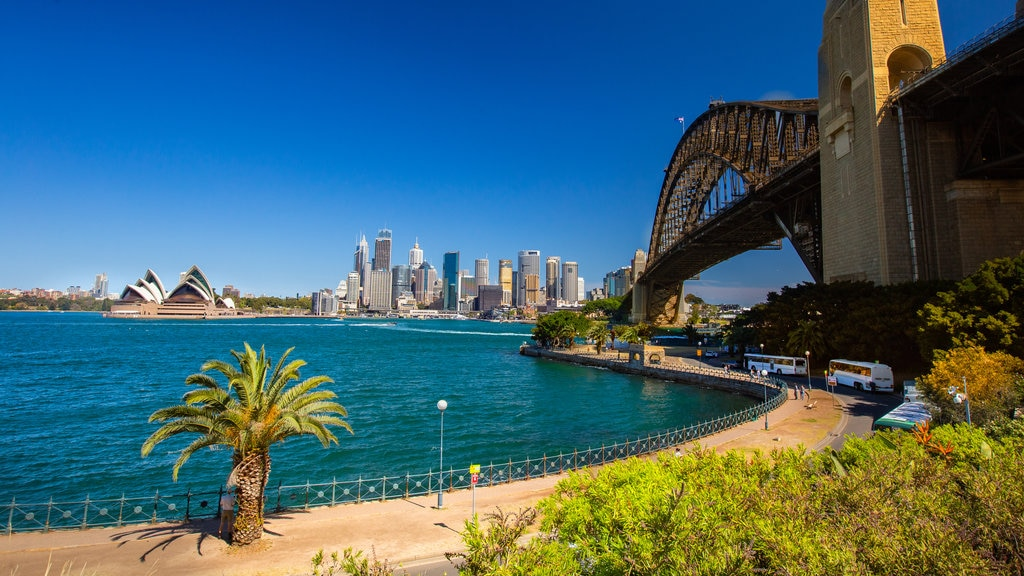 Sydney featuring a bay or harbor, a bridge and a monument