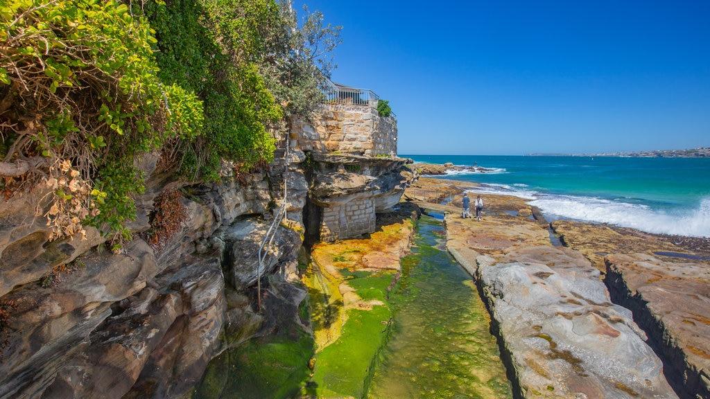 Bondi Beach featuring general coastal views and rocky coastline