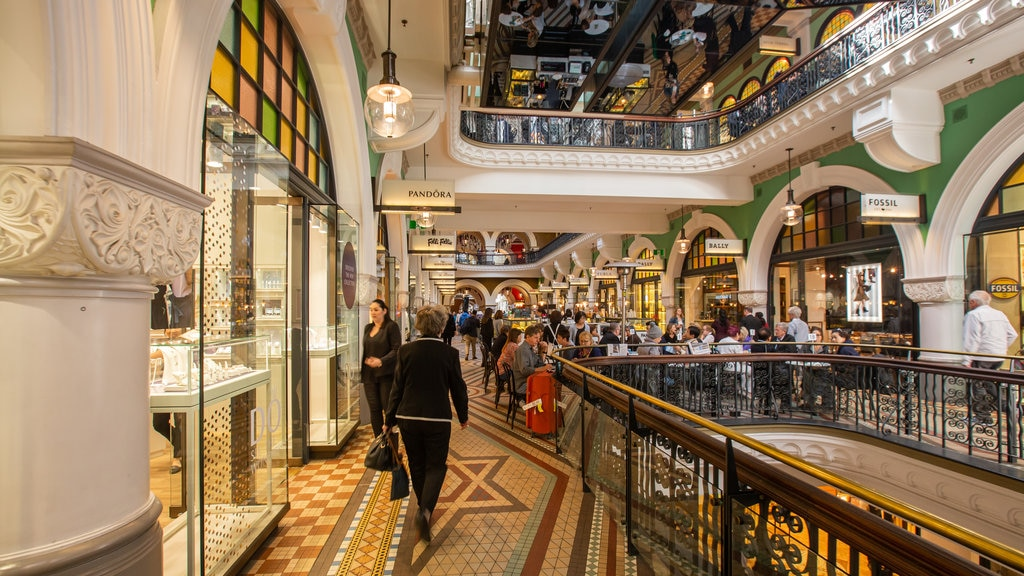 Queen Victoria Building featuring interior views and shopping