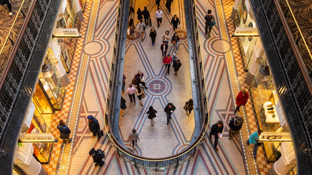 Queen Victoria Building showing shopping and interior views