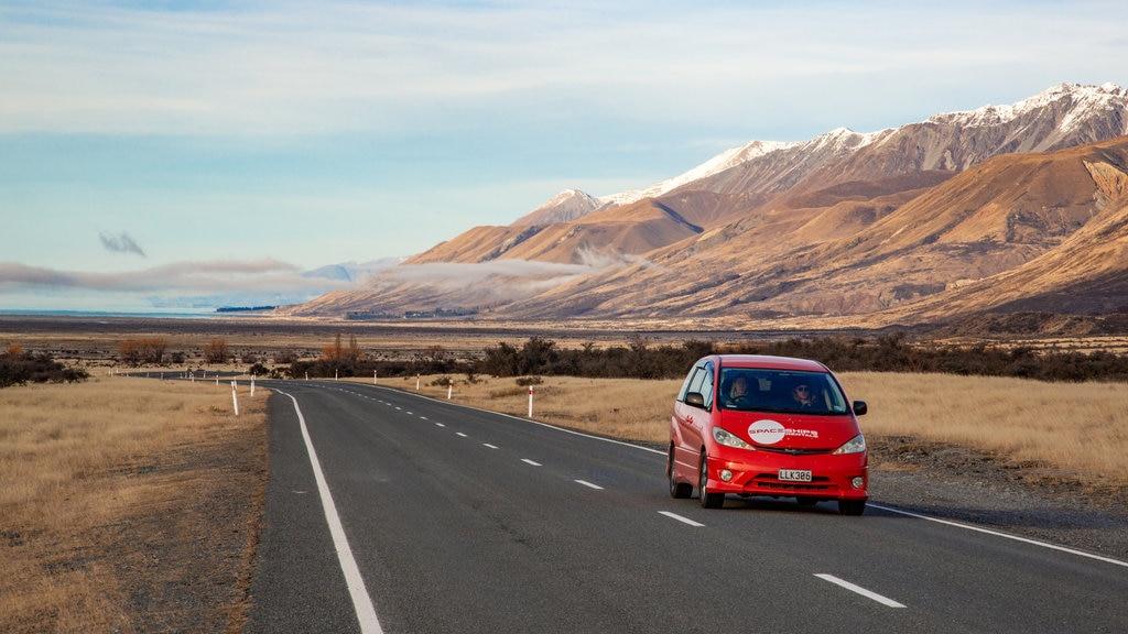 Parque Nacional Mount Cook mostrando escenas tranquilas y montañas