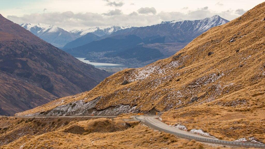 Isla del Sur que incluye montañas y escenas tranquilas