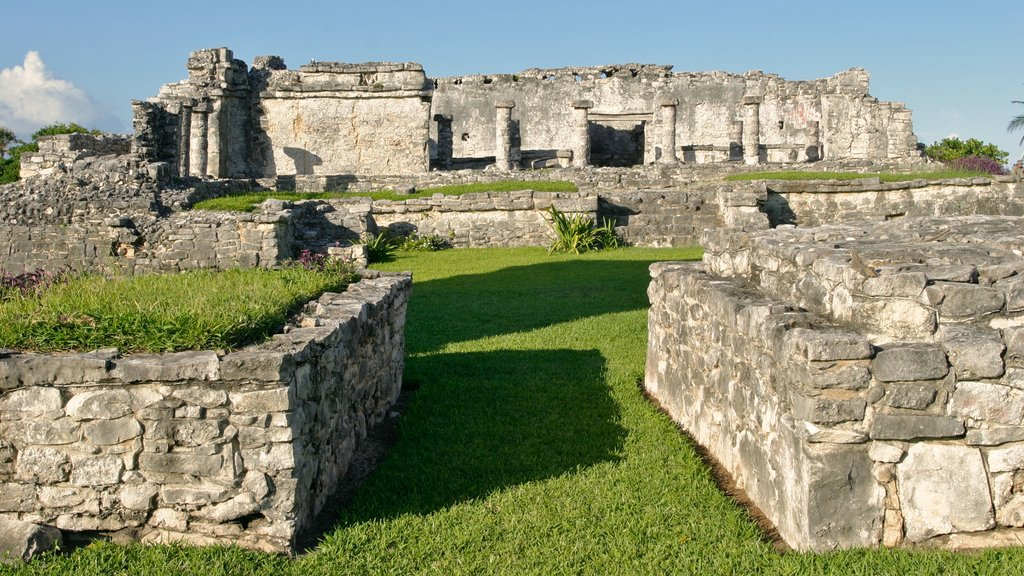 Tulum featuring a ruin and heritage elements