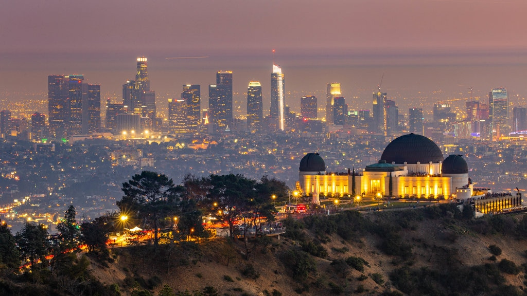 Southern California showing night scenes, a city and landscape views