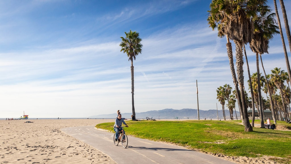 Southern California which includes cycling, a beach and a garden