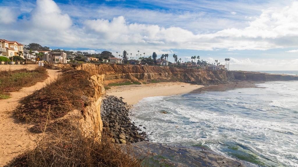 Southern California featuring general coastal views, a coastal town and rugged coastline