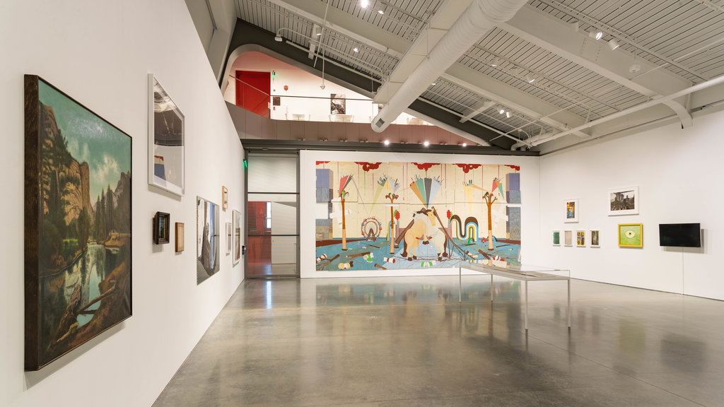 Berkeley Art Museum and Pacific Film Archive showing art and interior views