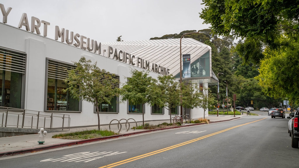 Berkeley Art Museum and Pacific Film Archive which includes signage
