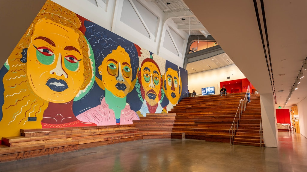 Berkeley Art Museum and Pacific Film Archive featuring art and interior views