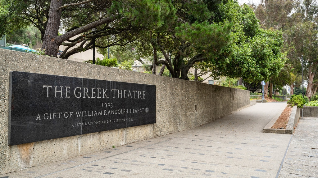 Greek Theater featuring signage