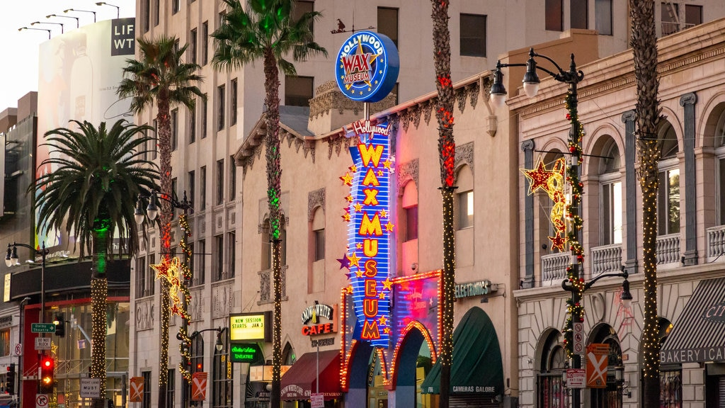 Hollywood featuring signage