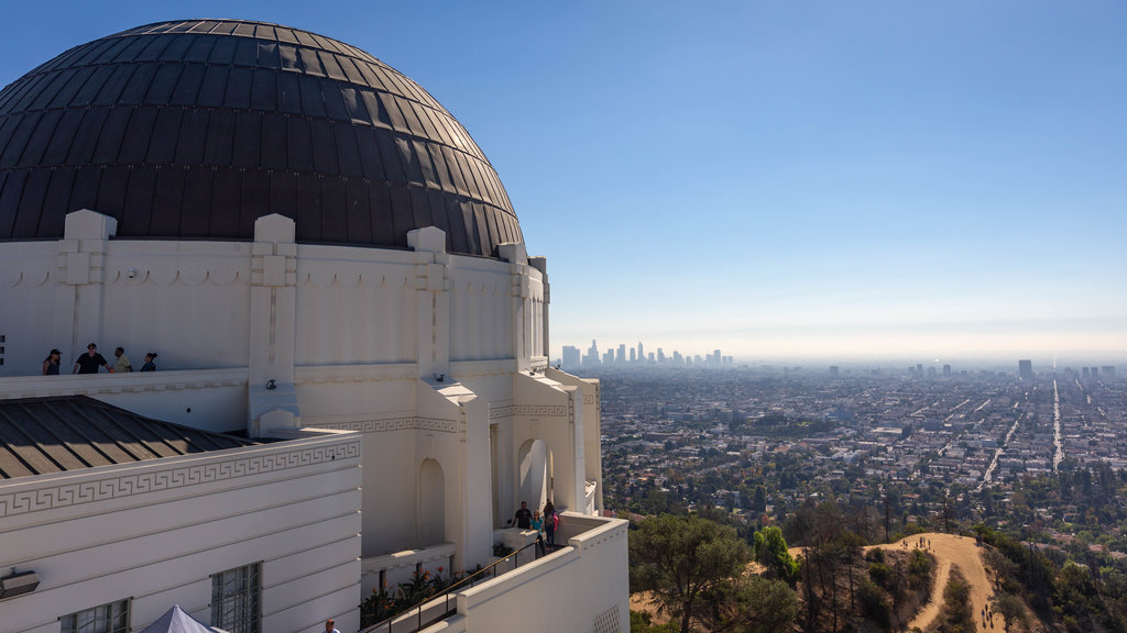 Griffith Observatory featuring landscape views, a city and an observatory