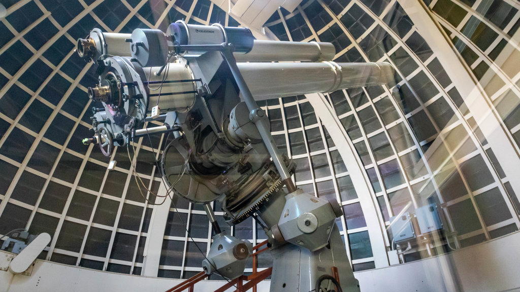 Griffith Observatory which includes interior views and an observatory