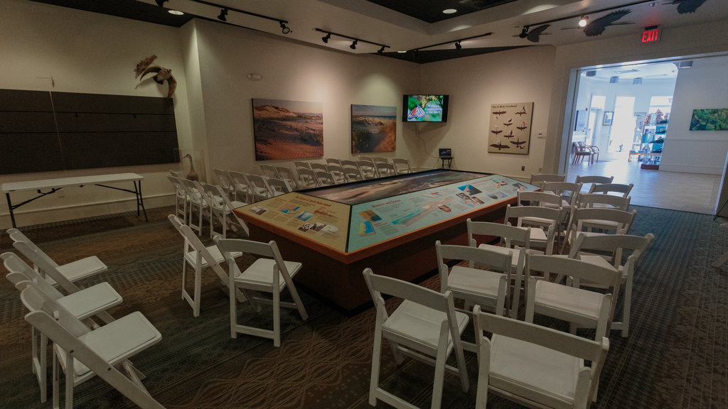South Padre Island Birding and Nature Center showing interior views