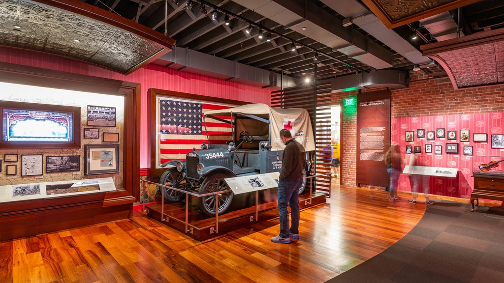 Walt Disney Family Museum showing heritage elements and interior views as well as an individual male