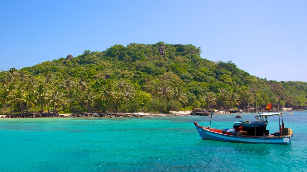 Phu Quoc featuring general coastal views, boating and tropical scenes