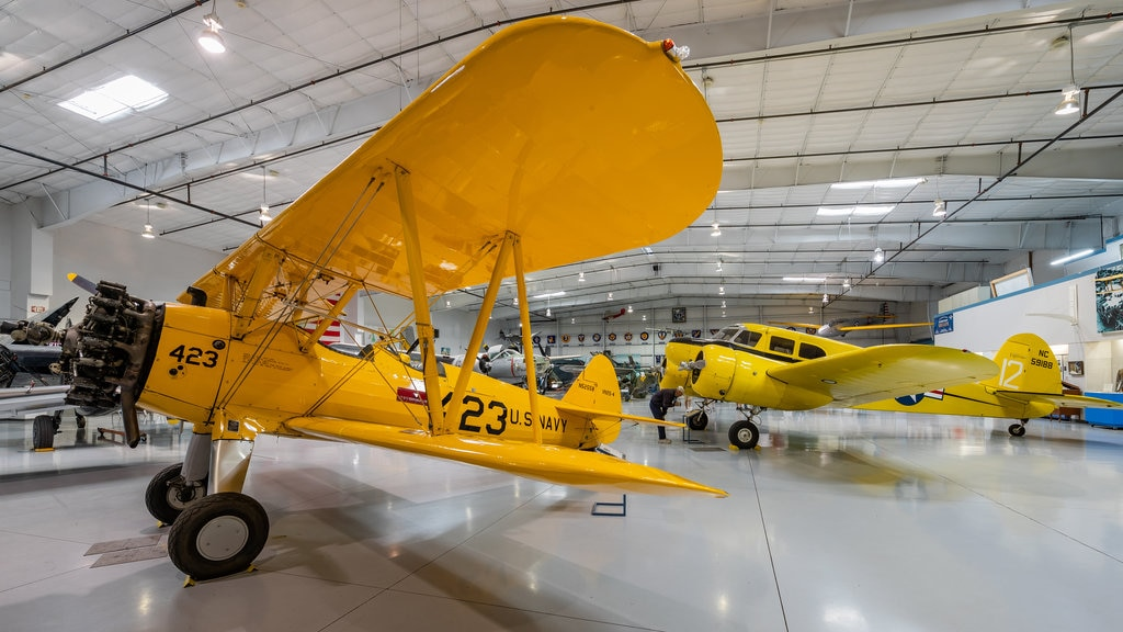 Arizona Commemorative Air Force Museum showing interior views and aircraft