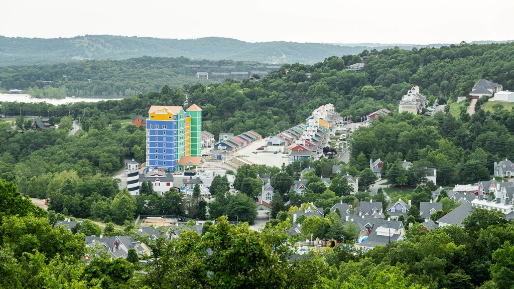 Branson featuring a small town or village and landscape views