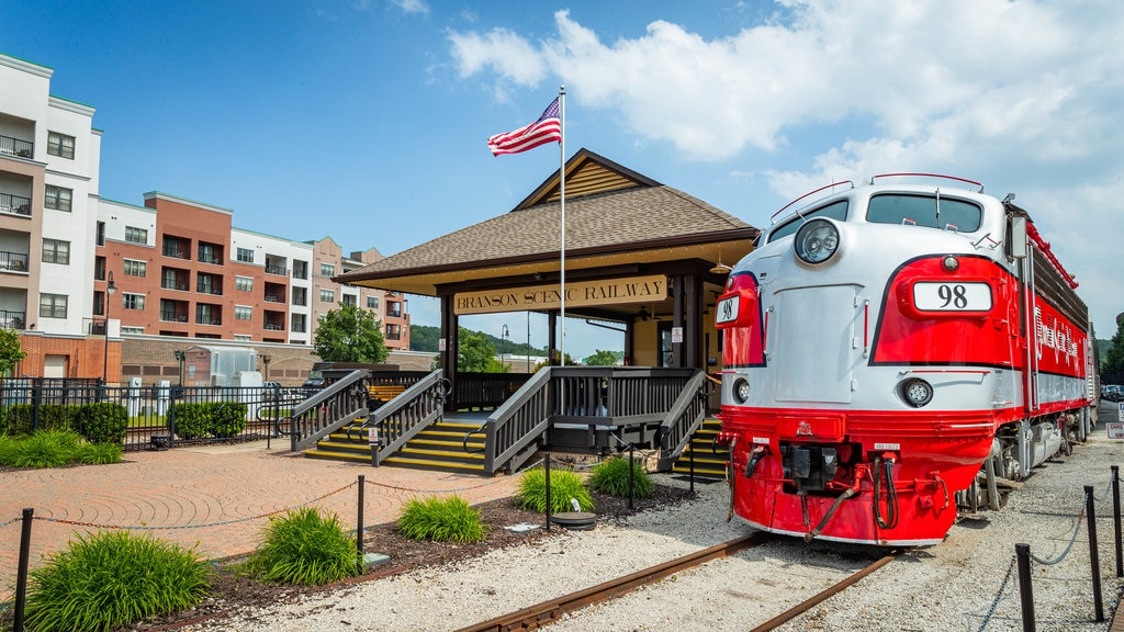 Branson\'s Scenic Railway featuring railway items