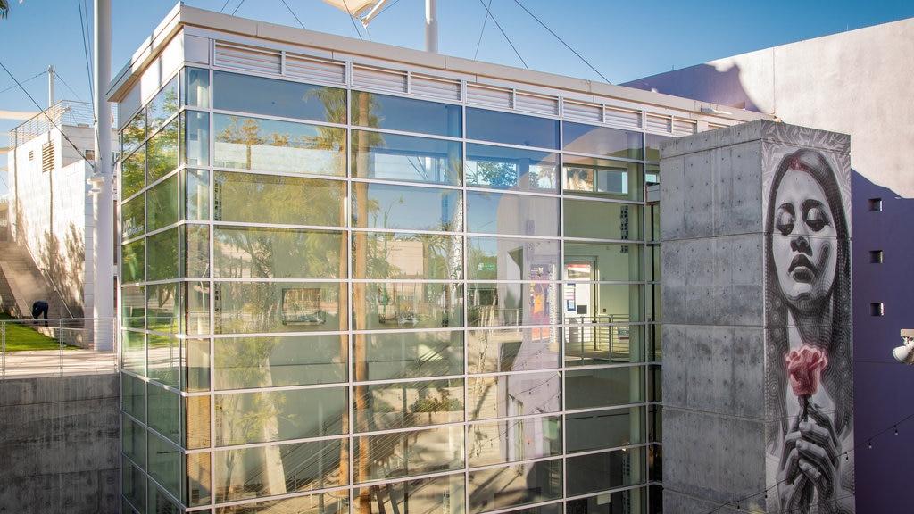 Mesa Arts Center featuring outdoor art