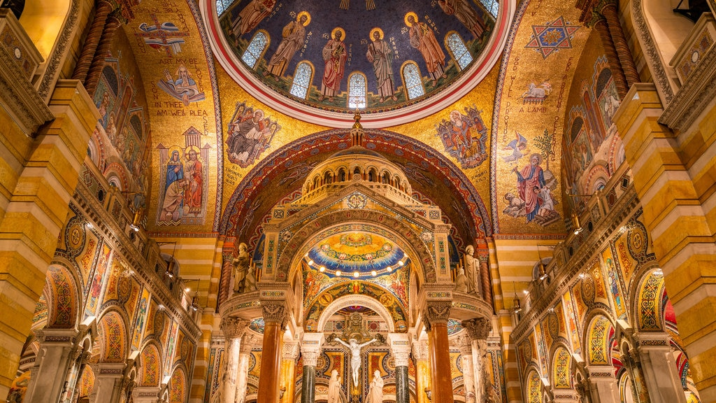 Cathedral Basilica of St. Louis showing art, a church or cathedral and heritage elements