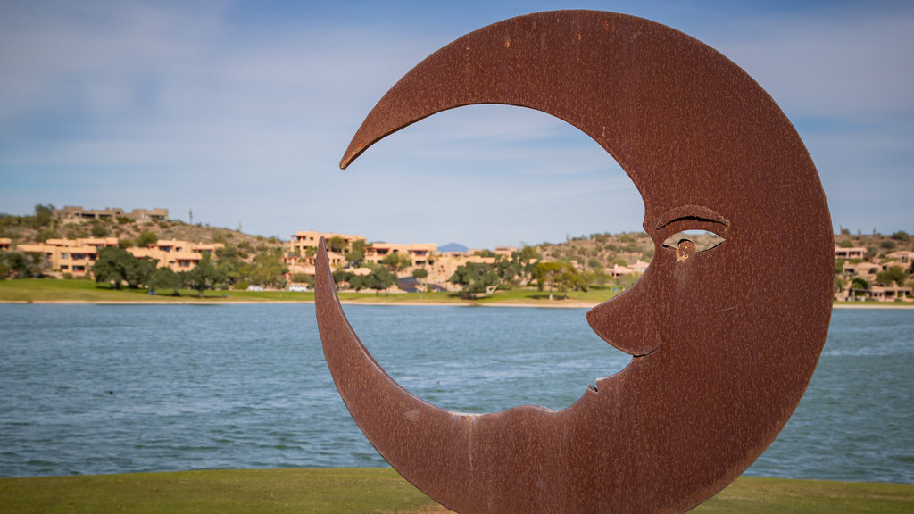 Fountain Hills Fountain showing a lake or waterhole and outdoor art