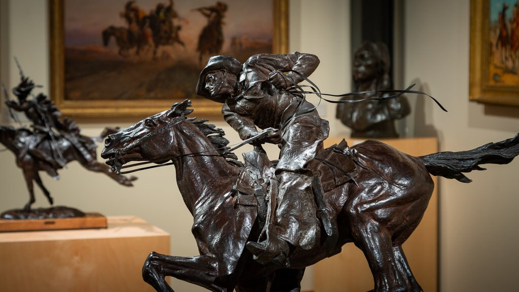 Western Spirit: Scottsdale\'s Museum of the West featuring interior views and a statue or sculpture
