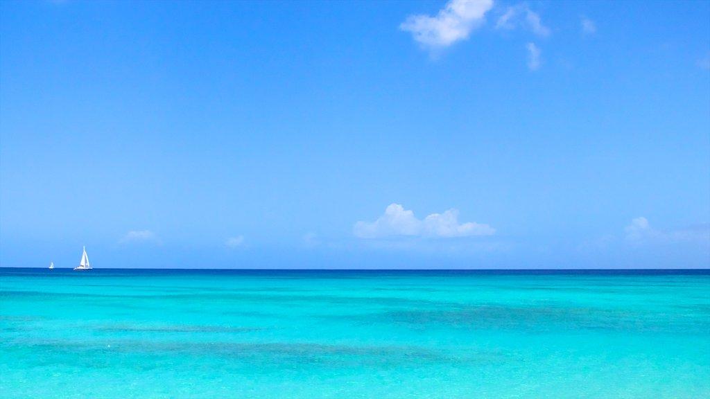 Playa Paradise que incluye navegación, escenas tropicales y vistas de paisajes