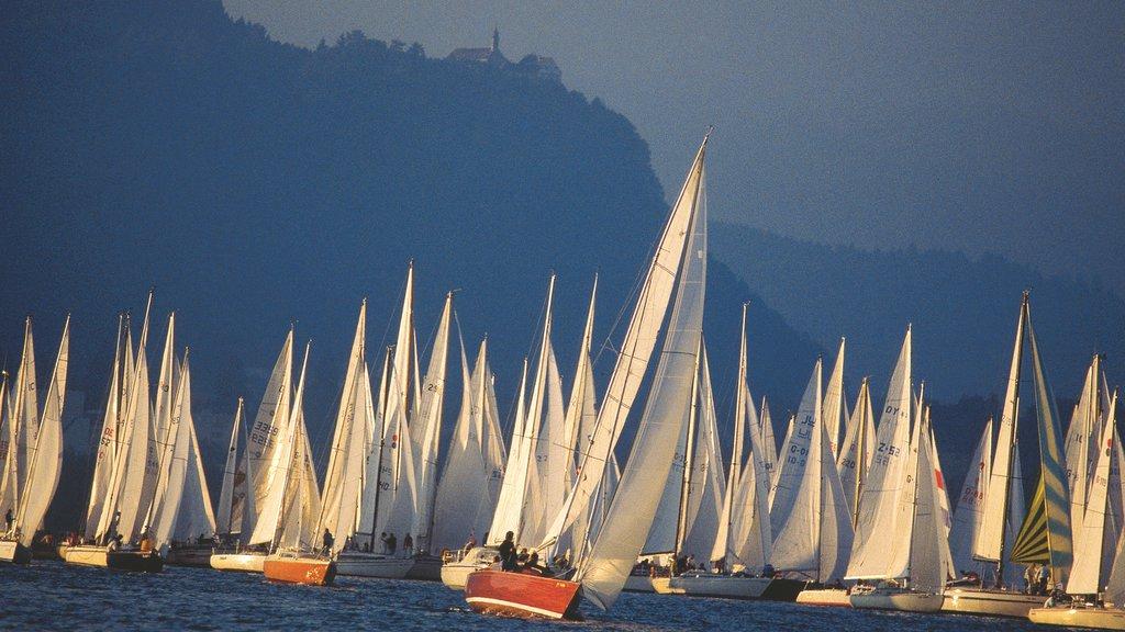 Bregenz showing sailing
