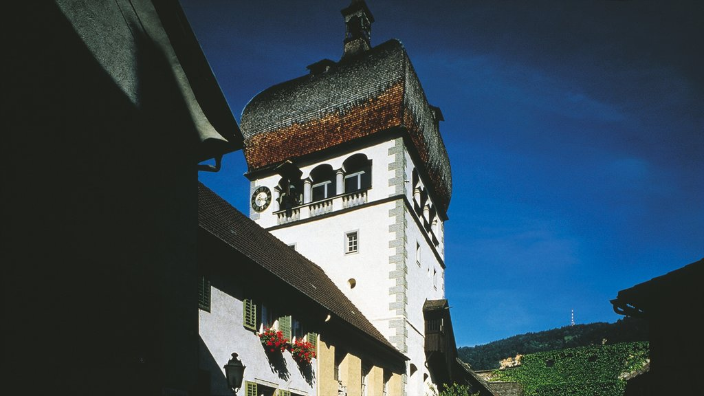 Bregenz showing heritage architecture, a small town or village and night scenes