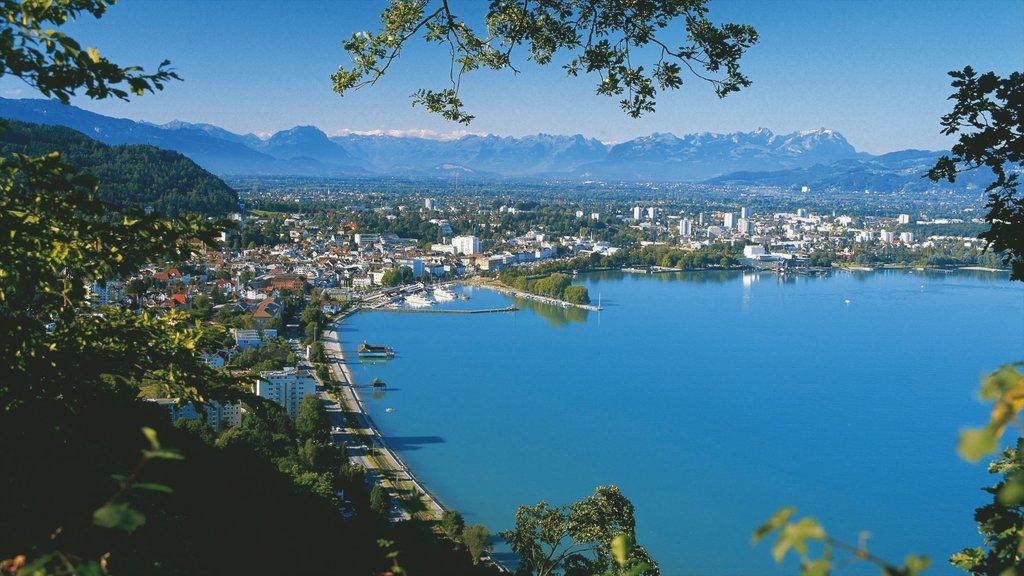 Bregenz showing a bay or harbor, landscape views and general coastal views