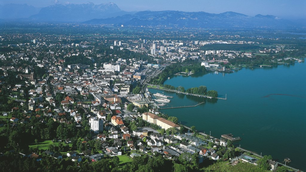Bregenz showing a bay or harbor and a city