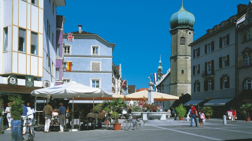 Bregenz featuring heritage architecture, outdoor eating and street scenes