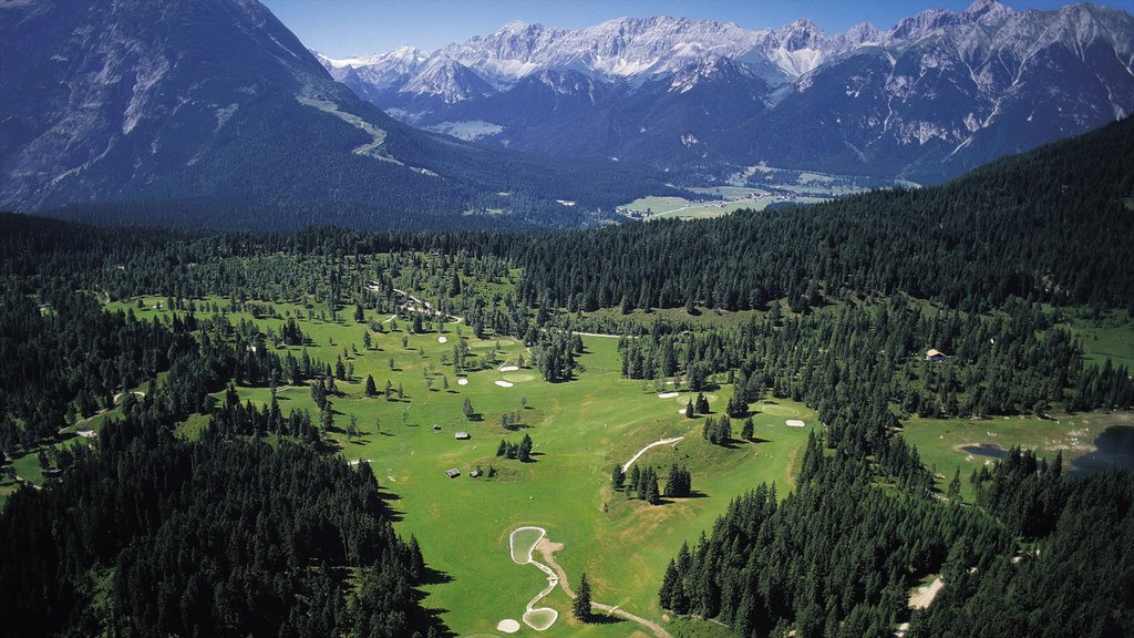 Seefeld in Tirol showing golf, mountains and forests