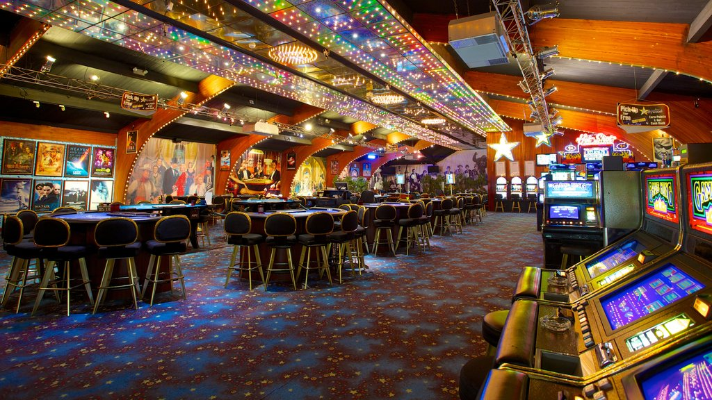 Hollywood Casino showing interior views and a casino