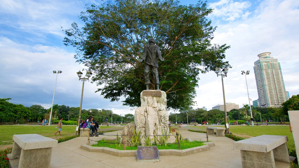 Rizal Park which includes a city, a monument and a park