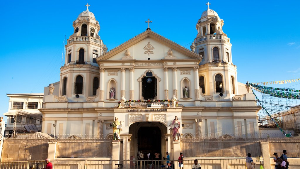 Quiapo Church featuring religious aspects, a city and a church or cathedral