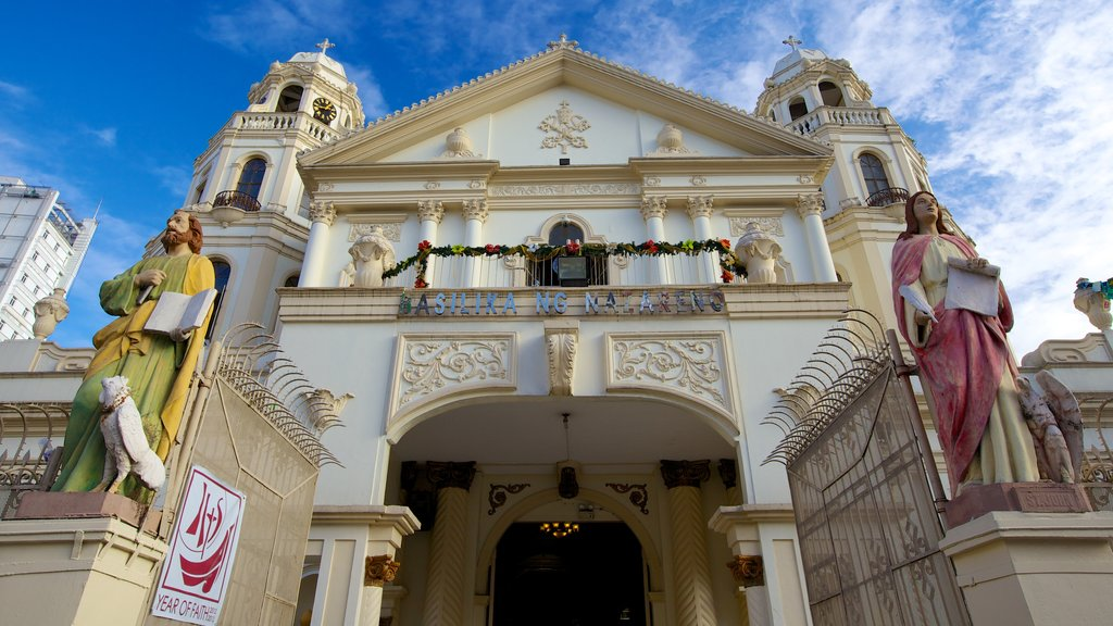 Quiapo Church showing a city, a church or cathedral and religious elements