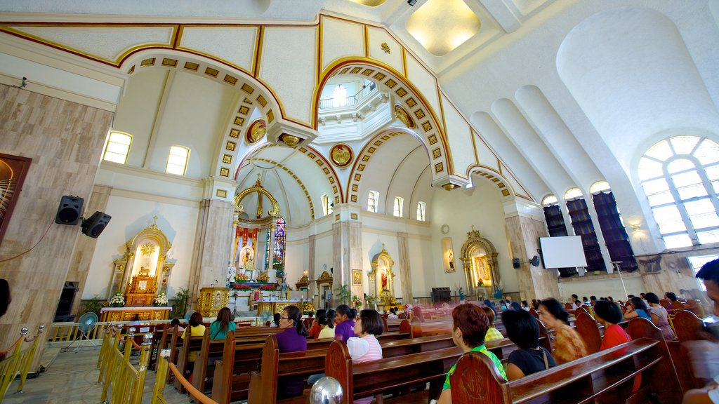 Quiapo Church showing interior views, a church or cathedral and religious elements