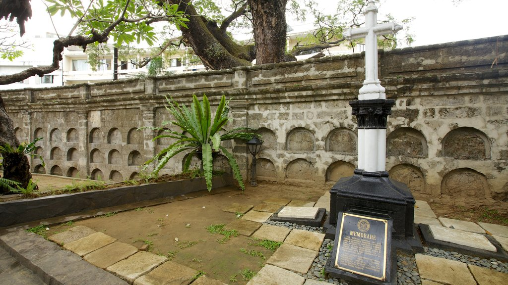 Paco Park which includes religious aspects, a cemetery and heritage elements