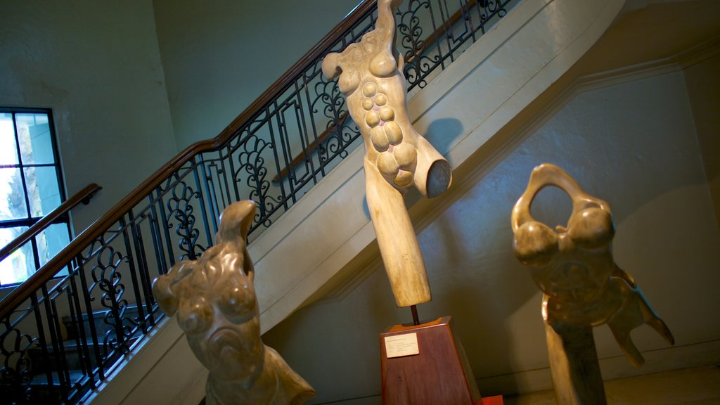 National Museum of the Filipino People which includes a statue or sculpture, interior views and art