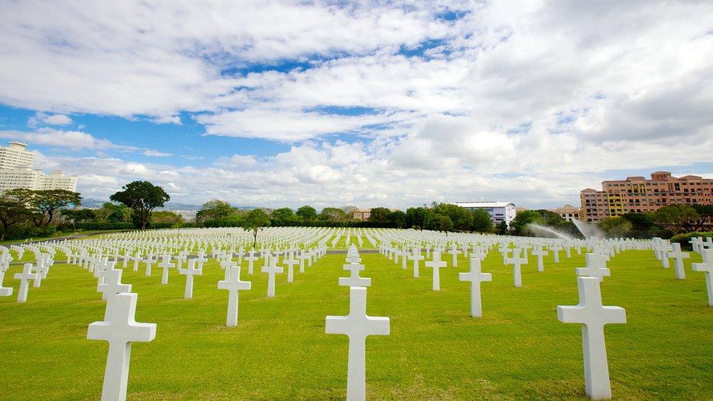 Manila ofreciendo un monumento y un cementerio